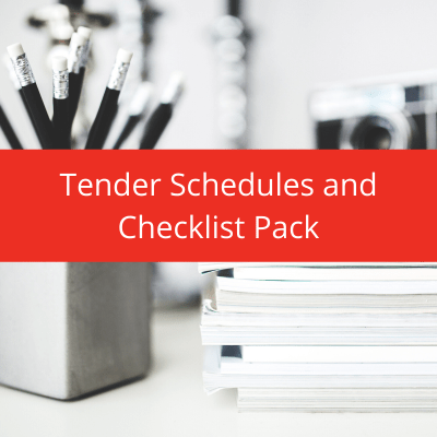 tender schedules, tender checklists